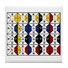 Enochian Tablet of Union Engl Tile Coaster