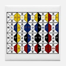 Enochian Tablet of Union Engl Tile Coaster