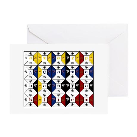 Enochian Tablet of Union Engl Greeting Cards (Pk o