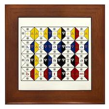 Enochian Tablet of Union Engl Framed Tile