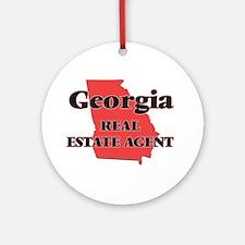 Georgia Real Estate Agent Round Ornament