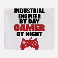 INDUSTRIAL ENGINEER BY DAY GAMER BY NIGHT Throw Bl