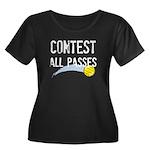 Contest All Passes Women's Plus Size Scoop Neck Da