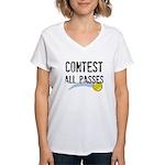 Contest All Passes Women's V-Neck T-Shirt