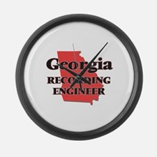 Georgia Recording Engineer Large Wall Clock