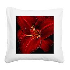 Unique Red Square Canvas Pillow