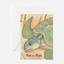 Cute Turtle drawing Greeting Card