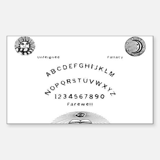 Secret Society Talking Board Sticker (Rectangle)