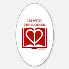 Love Banned Books Sticker (Oval)