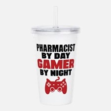 PHARMACIST BY DAY GAMER BY NIGHT Acrylic Double-wa