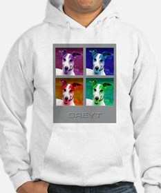 Greyhound Homage to Warhol Hoodie