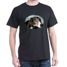 Guilty Greyhound in Oval T-Shirt