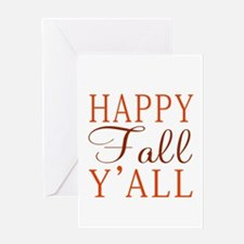 Happy Fall Y'all! Greeting Cards