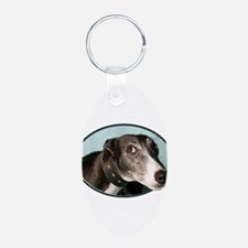 Guilty Greyhound in Oval Keychains