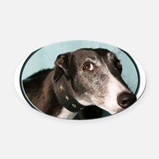 Guilty Greyhound in Oval Oval Car Magnet