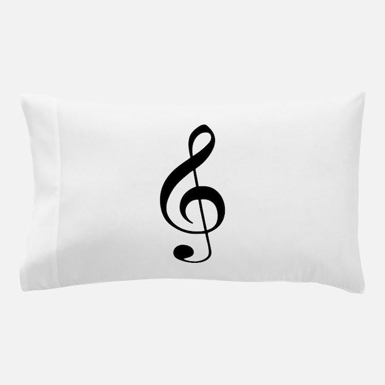 Treble Clef Pillow Case