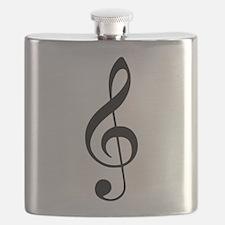 Treble Clef Flask