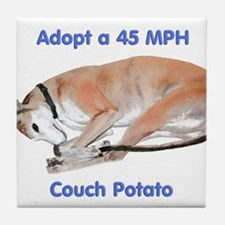 45 MPH Couch Potato Tile Coaster