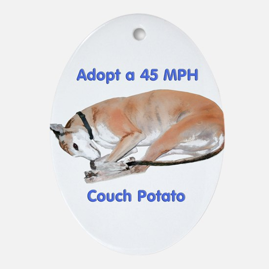 45 MPH Couch Potato Oval Ornament
