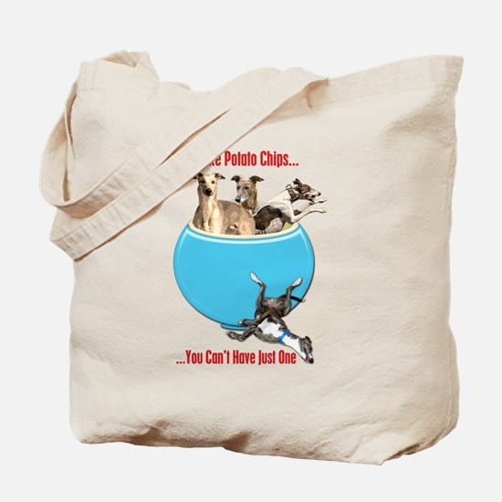 Greyhounds Like Potato Chips Tote Bag