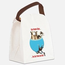 Greyhounds Like Potato Chips Canvas Lunch Bag