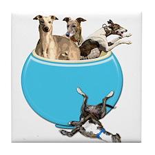 Greyhounds Like Potato Chips Tile Coaster