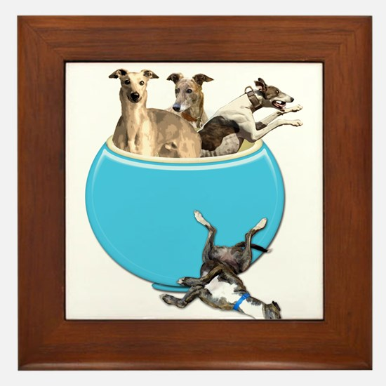 Greyhounds Like Potato Chips Framed Tile