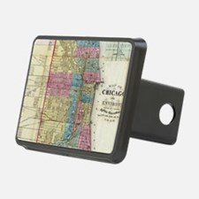 Vintage Map of Chicago (18 Hitch Cover