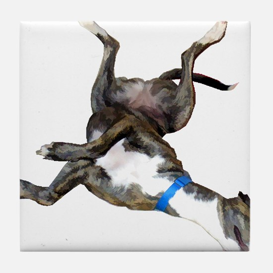 Cockroaching Greyhound Tile Coaster