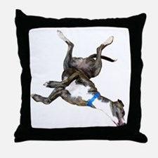 Cockroaching Greyhound Throw Pillow