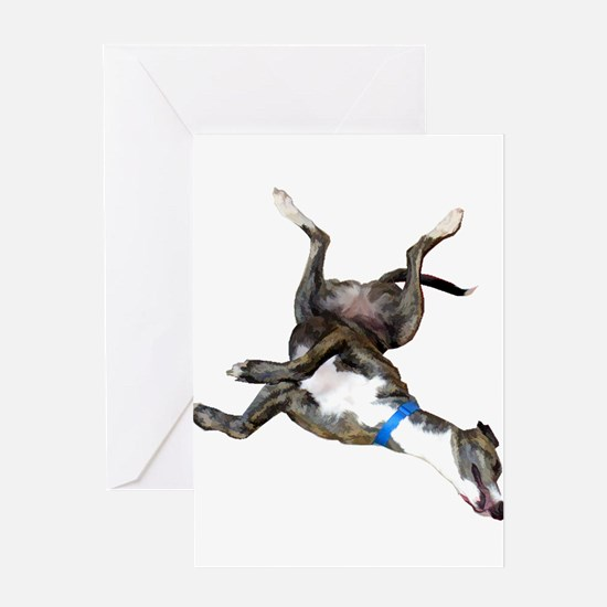 Cockroaching Greyhound Greeting Cards