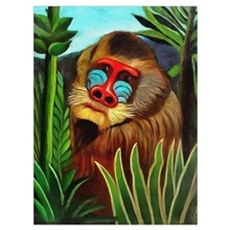 Henri Rousseau Mandrill In The Jungle Poster