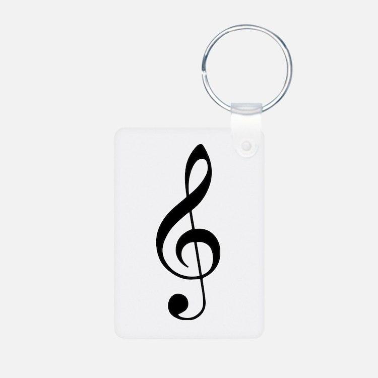Treble Clef Keychains