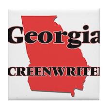 Georgia Screenwriter Tile Coaster