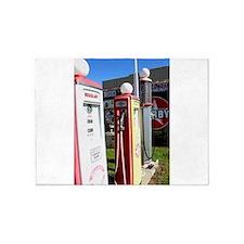 Route 66 gas pumps. 5'x7'Area Rug