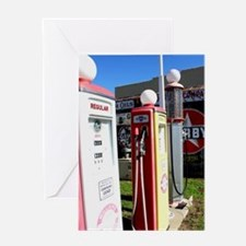 Route 66 gas pumps. Greeting Cards