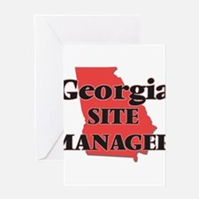 Georgia Site Manager Greeting Cards
