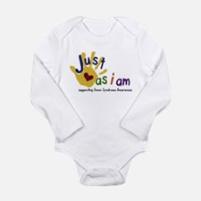 Funny Down syndrome Long Sleeve Infant Bodysuit
