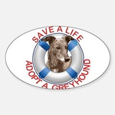 Greyhound in a Life Preserver Decal