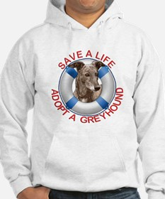Greyhound in a Life Preserver Hoodie