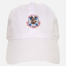 Greyhound in a Life Preserver Baseball Baseball Cap