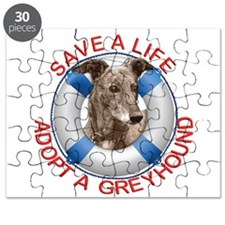 Greyhound in a Life Preserver Puzzle