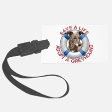 Greyhound in a Life Preserver Luggage Tag