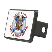 Greyhound in a Life Preser Hitch Cover