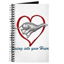 Greyhound Racing into your Heart Journal