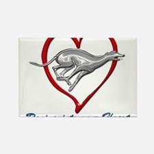 Greyhound Racing into your Heart Magnets
