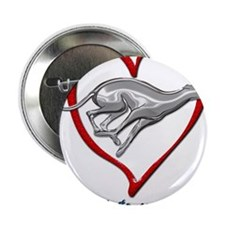 """Greyhound Racing into your Heart 2.25"""" Button"""