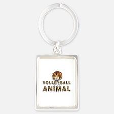 Volleyball Animal Portrait Keychain Keychains