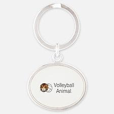 Volleyball Animal Oval Keychain Keychains