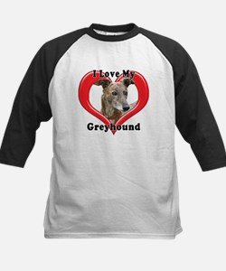 I love my Greyhound logo Baseball Jersey